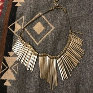 Anthropologie~ Metal Fringed Bib Necklace